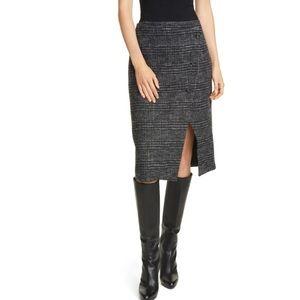 CLUB MONACO Plaid Cutaway Pencil Skirt Size 10